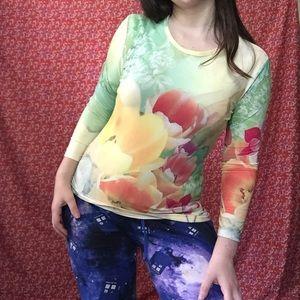 Caiai floral pastel top